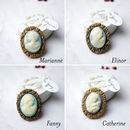 Milk Chocolate Wedding Favour Cameo Brooches, 10