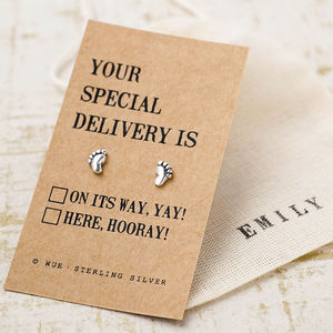 'Your Special Delivery' Silver Earrings - earrings