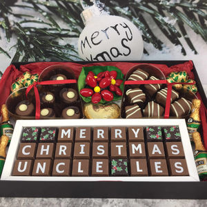 Large Personalised Chocolate Christmas Sweet Hamper