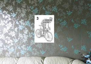 Cyclist Personalised Sport Word Art Print