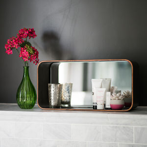 Industrial Cube Mirror Wall Shelf