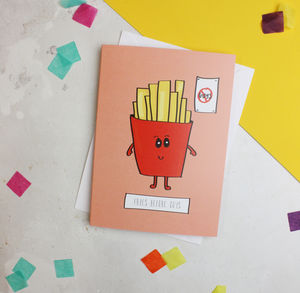 'Fries Before Guys' Funny Food Card For Best Friends