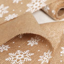 Christmas Crafts Jute Snowflake Table Runner