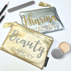 Personalised Metallic Clutch Bag