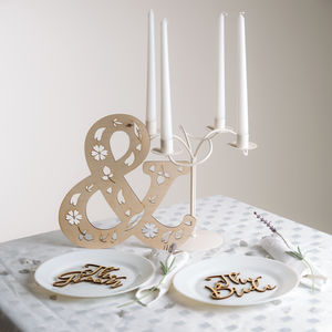 Top Table Decoration Set For The 'Bride' And 'Groom'