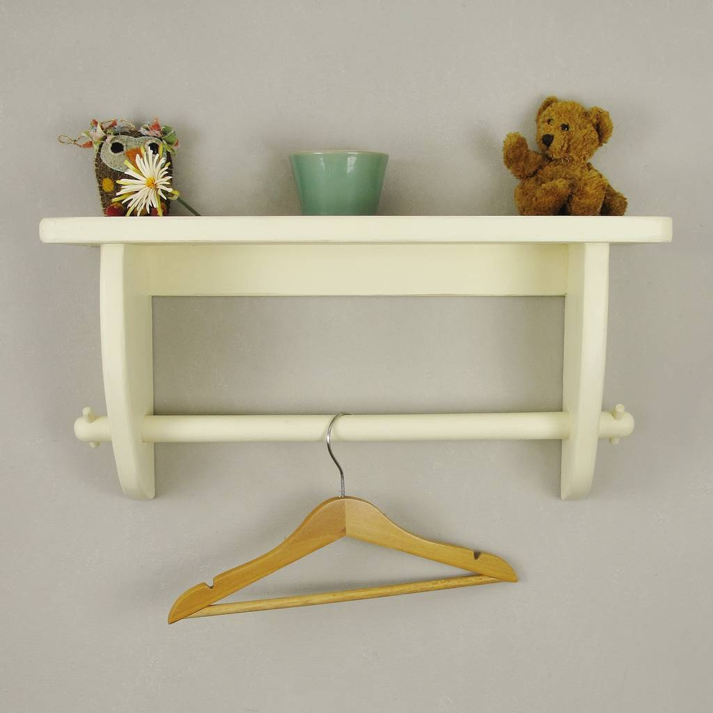 Vintage Styled Wooden Clothes Rail With Top