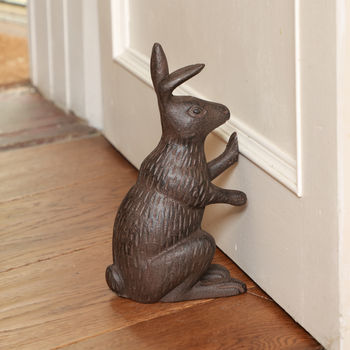 Winter Hare Cast Iron Doorstop