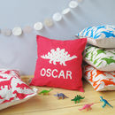 Super Sweet Personalised Dinosaur Cushion