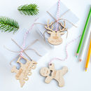 Kids Personalised Wooden Gift Tags