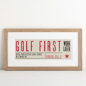 Sport First Personalised Print - posters & prints
