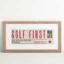 Sport First Personalised Print