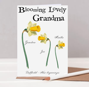 Blooming Grandma Botanical Card