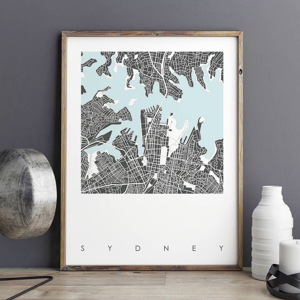 Map Print Of Sydney Limited Edition map