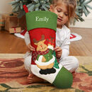 Embroidered Traditional Children's Christmas Stocking