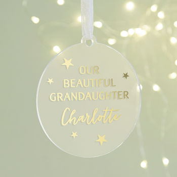 Grandchild Christmas Personalised Foil Bauble