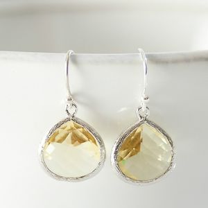 Little Silver Pear Drop Earrings