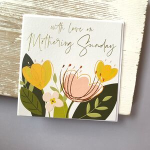 'With Love On Mothering Sunday' Card