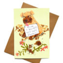 Mothers Day Card Naughty Dog 'I Brought You Flowers'