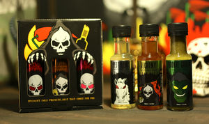 Grim Reaper Chilli Sauce Selection - spice-lover gifts