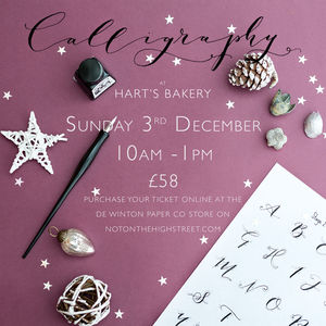Modern Calligraphy Beginners Christmas Workshop - experiences
