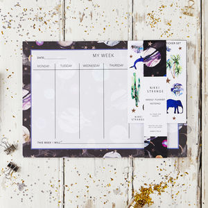 A4 Marble Galaxy Weekly Planner - stationery-lover