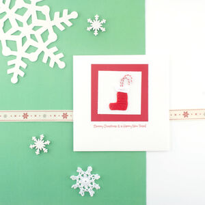 Handmade Christmas Stocking Card Limited Edition