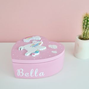 Personalised Pink Unicorn Jewellery Box - view all new