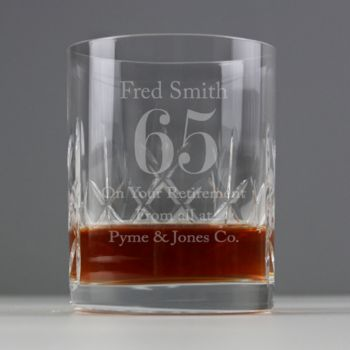 Engraved Cut Crystal Age Whisky Glass