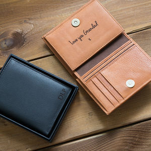Personalised Men's Leather Wallet With Coin Pocket - best gifts for him