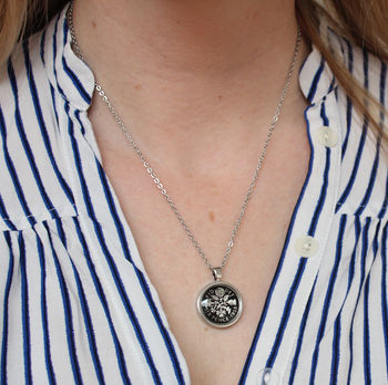 Personalised Sixpence Necklace 1928 To 1967