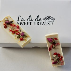 Edible Rose Petal Chocolate Bars