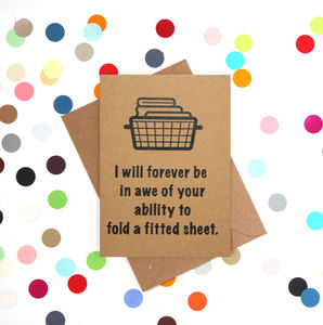 'Fitted Sheet' Funny Mother's Day Card - funny cards