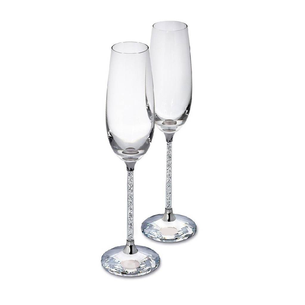 6738d8813a9 pair of champagne flutes with swarovski crystals by diamond affair ...