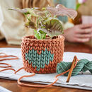 Crochet Heart Basket Kit