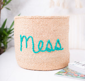Embroidered Storage Basket For Mess - baskets