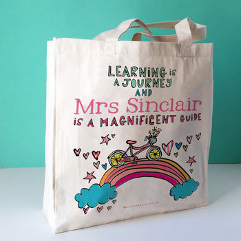 Personalised Magnificent Teacher Bag