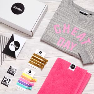 'Cheat Day' | The Gym Sweatshirt Fit Kit, Gift Box - women's fashion