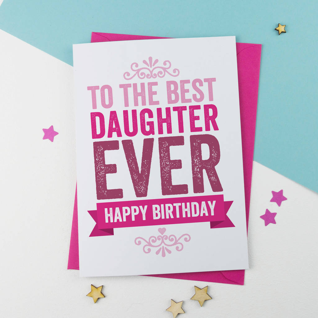 Prime Best Daughter Birthday Card By A Is For Alphabet Funny Birthday Cards Online Inifodamsfinfo