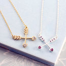 Friendship Crossed Arrows Necklace