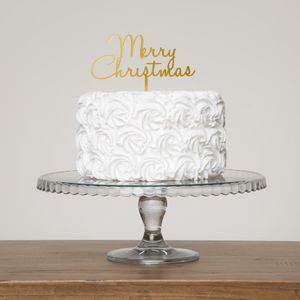 Merry Christmas Seasonal Party Cake Topper