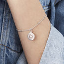 Purity Mandala Charm Bead Chain Bracelet For Happiness