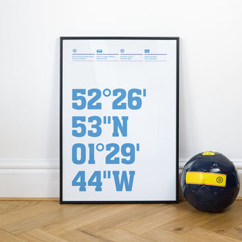 Coventry Football Stadium Coordinates Posters