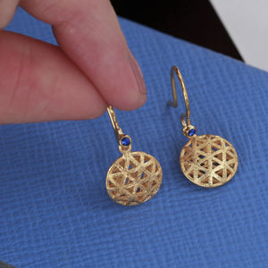 Round Filigree Drop Earrings - earrings