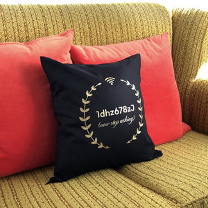 Personalised Wifi Code Cushion - cushions