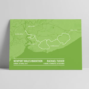 Personalised Newport Wales Marathon Poster
