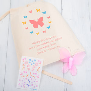 Decorate Your Own Butterfly Craft Kit And Gift Bag - traditional toys & games