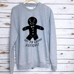 'Not My Gumdrop Buttons!' Christmas Sweatshirt - christmas jumpers & t shirts