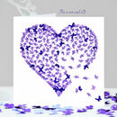 Purple Butterfly Valentines Heart Card