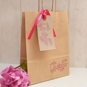 'Daughter' Gift Bag And Tag - ribbon & wrap