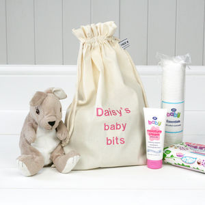 Personalised 'Little Baby Bits' Travel Sack